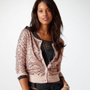 cute sequins american eagle crop cardigan size M